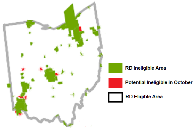 Ohio USDA Mortgage Loan Potential Changes Ohio Mortgage Solutions - Usda rural eligibility map